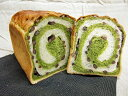 抹茶とあずきのマーブル食パン