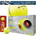 【2021年モデル】【テーラーメイド】 THE ALL NEW TP5x YELLOW GOLF BALL ニュー ティーピーファイブ エックス イエロー/先進のツアーボール ゴルフボール/1ダース(12球入) 【TaylorMade】【日本正規品】