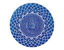 HANA ガラスプレート28cm ブルー【パーティープレート特集】【期間限定10%オフ】