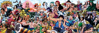 Super gorgeous! From TV animation one piece ★ 954 piece panoramic puzzle (34 x 102 cm)