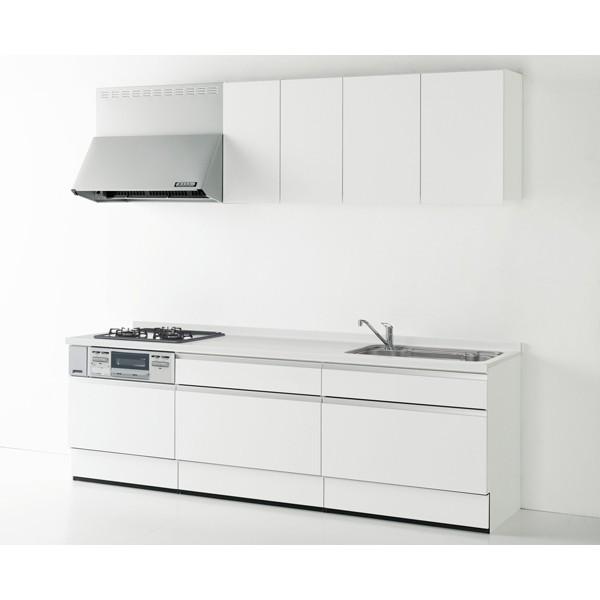 Housetec(ハウステック) システムキッチン ハウステック Kanarie(カナリエ) I型 スライドタイプ 収納たっぷり仕様 間口2550mm 扉A 食洗機無し