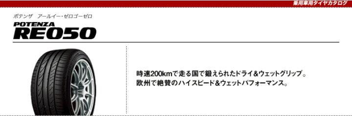 【2016年製造】245/35R21 96Y XL POTENZA RE050 オンライン ブリヂストン ポテンザ  【新品】:OKタイヤ