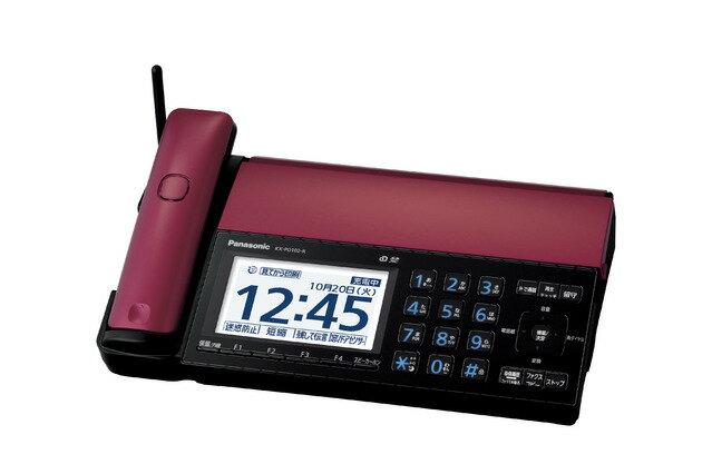 ファックス パナソニック KX-PD102D-R レッド 【送料無料】スマホでファックスがみられる、スマホが子機になる【佳作】