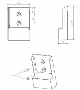 リモコンホルダ 三菱電機製エアコン FL、FLV...の商品画像