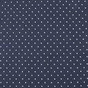 生地 水玉スムースプリント(142-1470) A12.紺×白 (H)_k4_