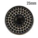 ダイヤレーン3連ボタン(KWA-A271) 25mm 黒 6a