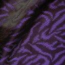 【オカダヤオリジナルカラー】ジャガード裏地 ゼブラ柄(AK401) 5134.紫 k3