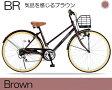 マイパラス シティサイクル 26インチ 6段ギア M-501-BR ブラウン 【送料無料】【smtb-s】【RCP】