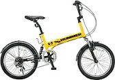 ハマー 20インチ6段変速折りたたみ自転車 HUMMER FDB206 W-sus イエロー 【送料無料】【smtb-s】【RCP】