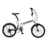 【納期:11月上旬頃】ハマー 20インチ 6段変速折りたたみ自転車 HUMMER FDB206 W-sus ホワイト 【】【smtb-s】【RCP】