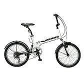 ハマー 20インチ 6段変速折りたたみ自転車 HUMMER FDB206 W-sus ホワイト 【送料無料】【smtb-s】【RCP】
