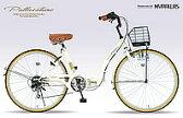 マイパラス 26型6段折りたたみ自転車 M-506-IV アイボリー シティサイクル 【送料無料】