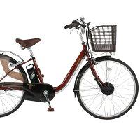 26インチ電動アシスト自転車FT-263R-EA(ブラウン)【送料無料】Raychell/レイチェル3段ギア 低床フレーム 充電バッテリー オオトモ おしゃれな電動アシストの画像