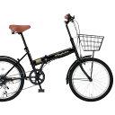 20インチ折りたたみ自転車FB-206R 24213 ブラッ...