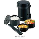 象印 ステンレスランチジャー 茶碗3杯分 SL-GH18-BA(ブラック)お・べ・ん・と 内面フッ素コート 保温弁当箱