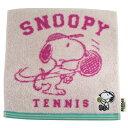 スヌーピー ミニタオル1 スポーツシリーズ (テニス/ピンク...