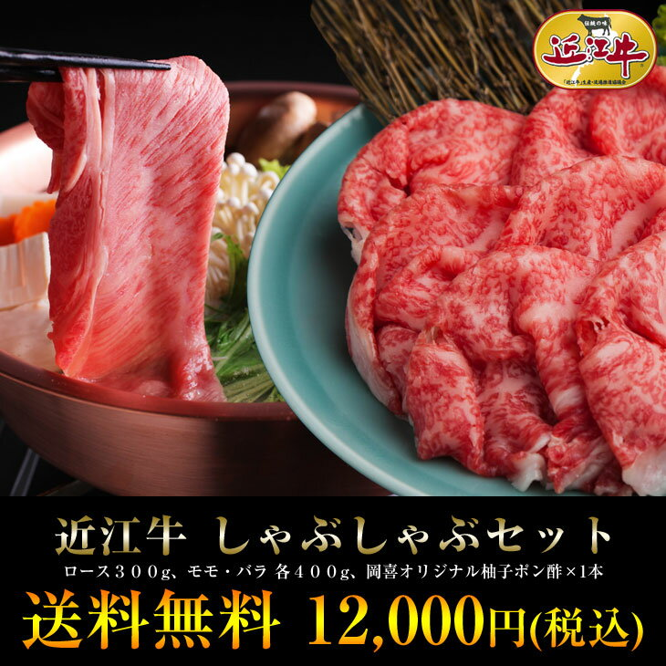 ☆総内容量1.1kg☆4、5人前近江牛 しゃぶしゃぶセット【あす楽対応商品】