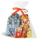 おかしのマーチ ミニオンズ巾着(大判)&お菓子(20コ入り)ラッピングセットB