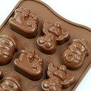 チョコレート型 シリコンモールド Winter(チョコウインター)SCG023 チョコ型 クリスマス チョコレートモールド ケーキ型