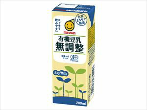マルサンアイ 有機豆乳無調整 200ml 24本入り ケース
