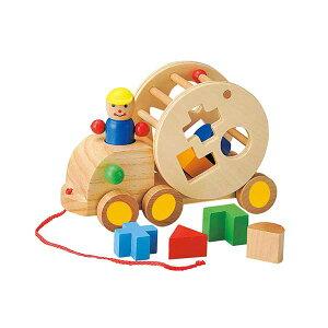パズルトラック 玩具/おもちゃ/オモチャ/木製/子供/キ