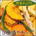 パクパク食べれる美味しさ! 5種の野菜で作ったミックス野菜チップ 300g入り【5種盛り野菜チップ300g】