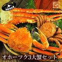 送料無料『オホーツク 3大蟹 セット★合計約2キロ!』(タラ...