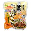 沖縄のてびちと言えば醤油を使った煮付けや沖縄風おでんですが、塩をベースに味付けした豚足そのものの味が楽しめる料理です。オキハム|塩ダレてびちオキハム 塩ダレてびち 330gコラーゲンがたっぷり|美肌|美容|アンチエージング[食べ物>お肉>てびち]
