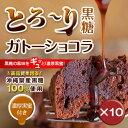 【送料無料】黒糖ガトーショコラ 10個セットチョコ・ケーキ・黒蜜|チョコケーキ|ガトーショコラ|黒糖[食べ物>スイーツ・ジャム>ケーキ]
