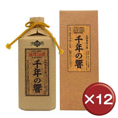 【送料無料】千年の響 古酒 720ml 25度 12本セット|泡盛|古酒|ギフト|[飲み物>お酒>泡盛]