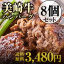 【送料無料】石垣島のブランド和牛!美崎牛ハンバーグ 100g×8個|ハンバーグ|石垣島|黒毛和牛|石