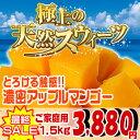 【送料無料】沖縄の農家さんが身内に薦めるアップルマンゴー 1.5kg(4?6玉)セット|沖縄土産|沖