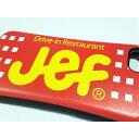 【クリックポスト送料無料】【 iPhone 7 / 8 専用】沖縄のファーストフード「jef」のケース(赤) グッズ ブルーシール オリオンビール