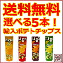リゴーポテトチップス LIGO CHIPS 選べる5本セット / 送料無料