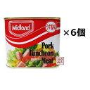 【ミッドランドポーク】300g うす塩味 ×6缶セット