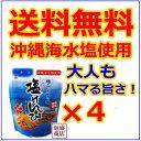 【塩けんぴ】4袋セット / 沖縄の海水塩だけで作られた塩 芋...