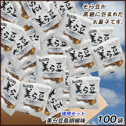 【送料無料】【沖縄土産】【メーカー直売】 美ら豆 (ちゅらまめ 黒糖そら豆) (10gx100袋入) 黒糖菓子 豆菓子 そら豆お菓子 まとめ買い