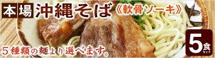 サン食品の選べる麺!沖縄そば5食セット