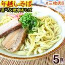 【年越しそば】【送料無料】選べる麺!沖縄そば 5食セット(味付け三枚肉、そばだし、