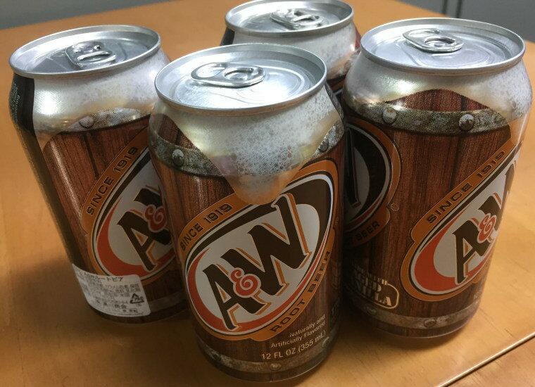 米国産A&Wルートビア12本(@355ml)14種類以上のハーブで独特の香り・味炭酸飲料ノンアルコー