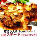 厚切り ステーキ 200g 2枚 赤身 肉 赤身肉 豚肉 国産 甘辛しょうがソース味