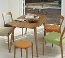 ダイニング5点セット クローバーSX テーブル150×1 チェア×4 ダイニングテーブルセット 4人掛け 楕円テーブル 幅150 木製