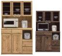 【送料無料】食器棚105 モイス付 オープンボード オープン食器棚 105cm幅ナチュラル・ブラウン 耐震ラッチ付き