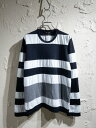 COMME des GARCONS COMME des GARCONS/パッチパネルボーダーTEE/M【中古】[▼]