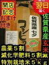 【28年産 新米】佐賀県産特別栽培米(減農薬5割減、化学肥料5割減)七夕コシヒカリ★玄米5kg送料無料※北海道は別途送料\500沖縄一部離島は\1000が掛かります。