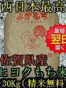 【30年産 新米】佐賀県産ヒヨクモチもち米 玄米30kg(もしくは精米)送料無料※北海道は