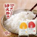 無洗米 10kg 送料無料 山形 新米 令和元年産 はえぬき...