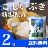 新米 2kg  【26年産】新潟産 こしいぶき 【白米】 お米 コシイブキ[2k-un] お試し