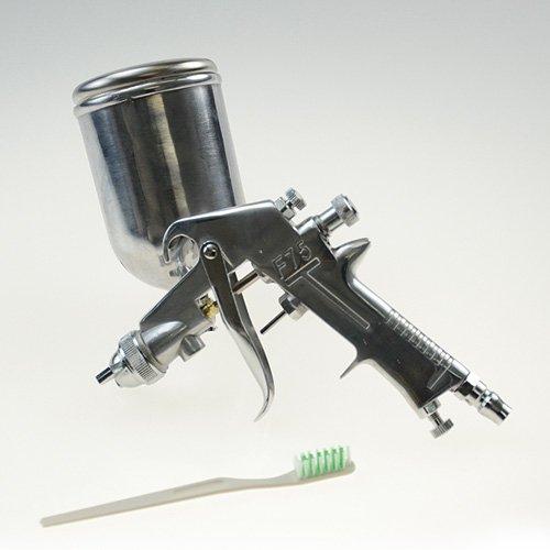 エアースプレーガン重力式F75/ノズル口径1.3mm塗装エアーブラシ重力式(カップ400m…...:okoshi:10001011