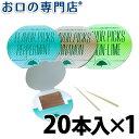 クリアデント 三角ようじ(フレーバーピック) 20本入【メール便18個までOK】